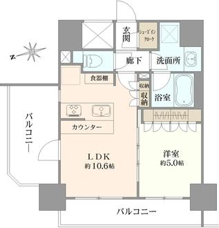 リリーゼ東京新富町の間取図