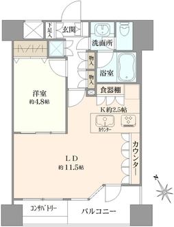 パレ・ソレイユ東京日本橋の間取図