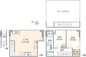 神楽坂南町アパートメントの間取図