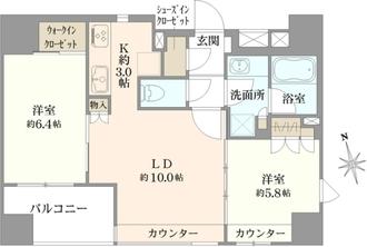 クレヴィア東京八丁堀 湊 ザ・レジデンスの間取図