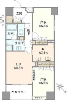 グラーサ東京イーストの間取図