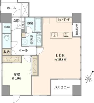 オープンレジデンシア日本橋水天宮の間取図