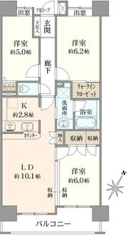コスモ日本橋浜町の間取図