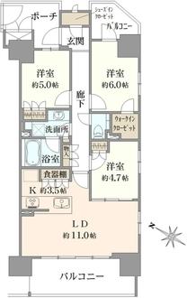 インプレスト東京八丁堀の間取図