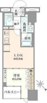 シティハウス東京八重洲通りの間取図