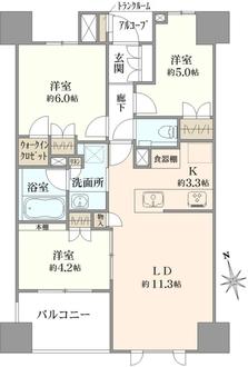 プラウド東京八丁堀の間取図