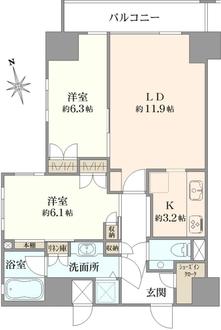コンパートメント東京中央の間取図