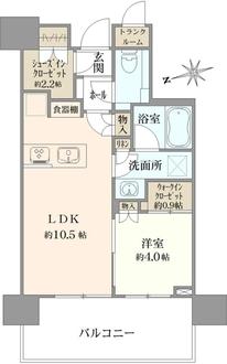 パークシティ中央湊ザ タワーの間取図