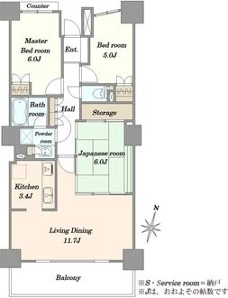 パークシティ大宮セントラルタワーの間取図