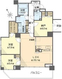 パークハウス成城の間取図