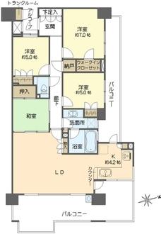東京テラスC棟の間取図