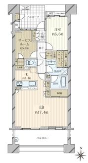 東京テラスE棟の間取図
