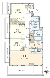 ザ・パークハウス中野坂上の間取図