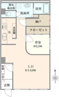 ハラダサンパークマンション恵比寿台の間取図