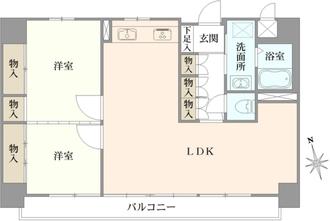 第二広尾フラワーハイホームの間取図