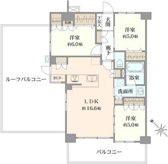 ヴェレーナ横浜三ツ沢の間取図