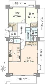 コスモ田端グレイスフォームの間取図