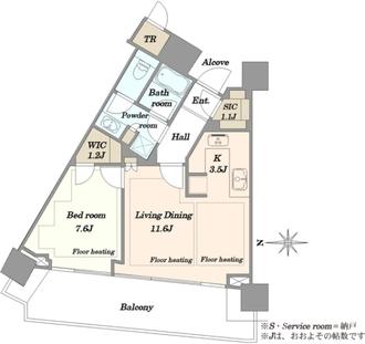 ザ・コート神宮外苑の間取図