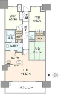 レーベン川口元郷タワーレジデンスの間取図