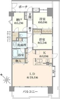 コスモ川口ガーデンパークスの間取図