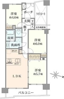 クリオ戸田公園壱番館の間取図