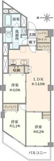 西川口ファミリーマンションの間取図