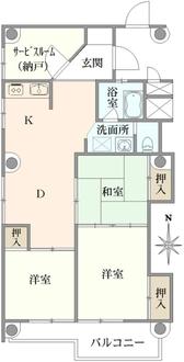 西川口高層ビルの間取図