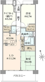 コスモステージ戸田公園の間取図