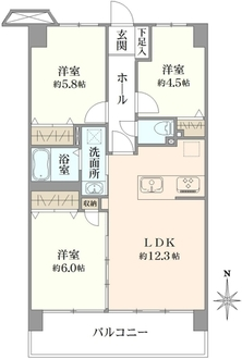 サンマンション川口弐番館の間取図