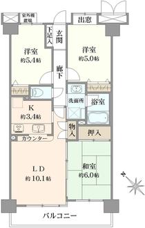 コスモ川口朝日町の間取図