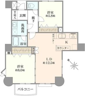 キャッスルマンション戸田の間取図