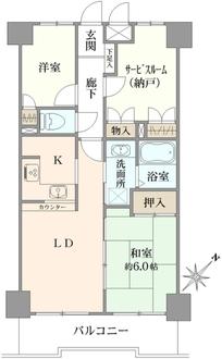 西川口並木第3サニーコートの間取図