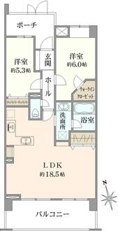 ダイアパレス川口新井宿の間取図