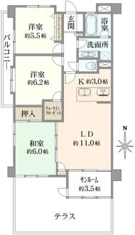レーベンハイム川口青木公園の間取図
