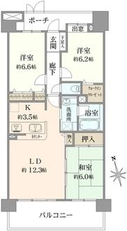 コスモ川口シムズ・スクエアの間取図