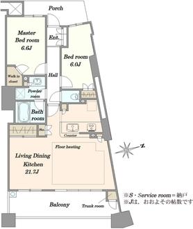 ザ・タワーパークス田園都市溝の口の間取図