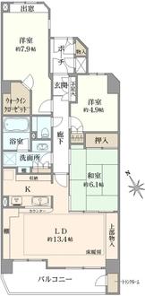 東急ドエル・アルス溝口ヒルトップステージの間取図
