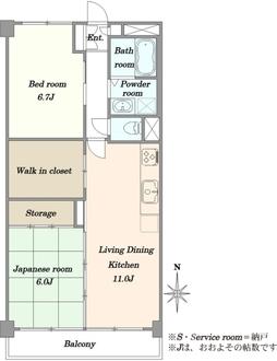 DIKマンション南多摩川の間取図