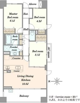 パークハウス武蔵新城ソレイユテラスの間取図