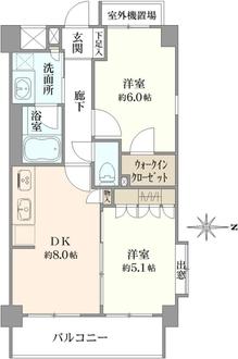 エクセレントスクエア宮崎台 1番館の間取図