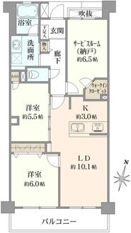 クレッセント武蔵新城IIの間取図