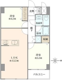 サンパークマンション高田馬場の間取図
