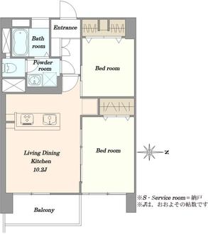 高田馬場住宅の間取図