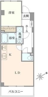 竹内マンションの間取図