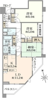 武蔵野緑町ヒルズの間取図