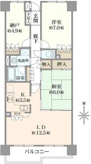 ユニオンパレス吉祥寺北弐番館の間取図