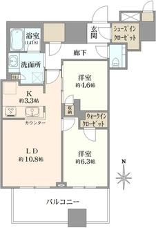 武蔵野タワーズスカイクロスタワーの間取図