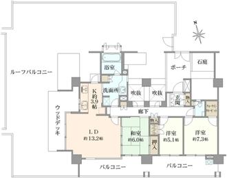 テラス武蔵野桜堤の間取図