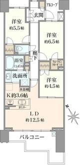 パークシティ武蔵野桜堤 桜景邸の間取図