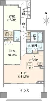 ザ・パークハウス三鷹櫻邸の間取図